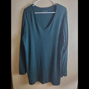 LOFT XL Green Long Sleeve Knit Dress